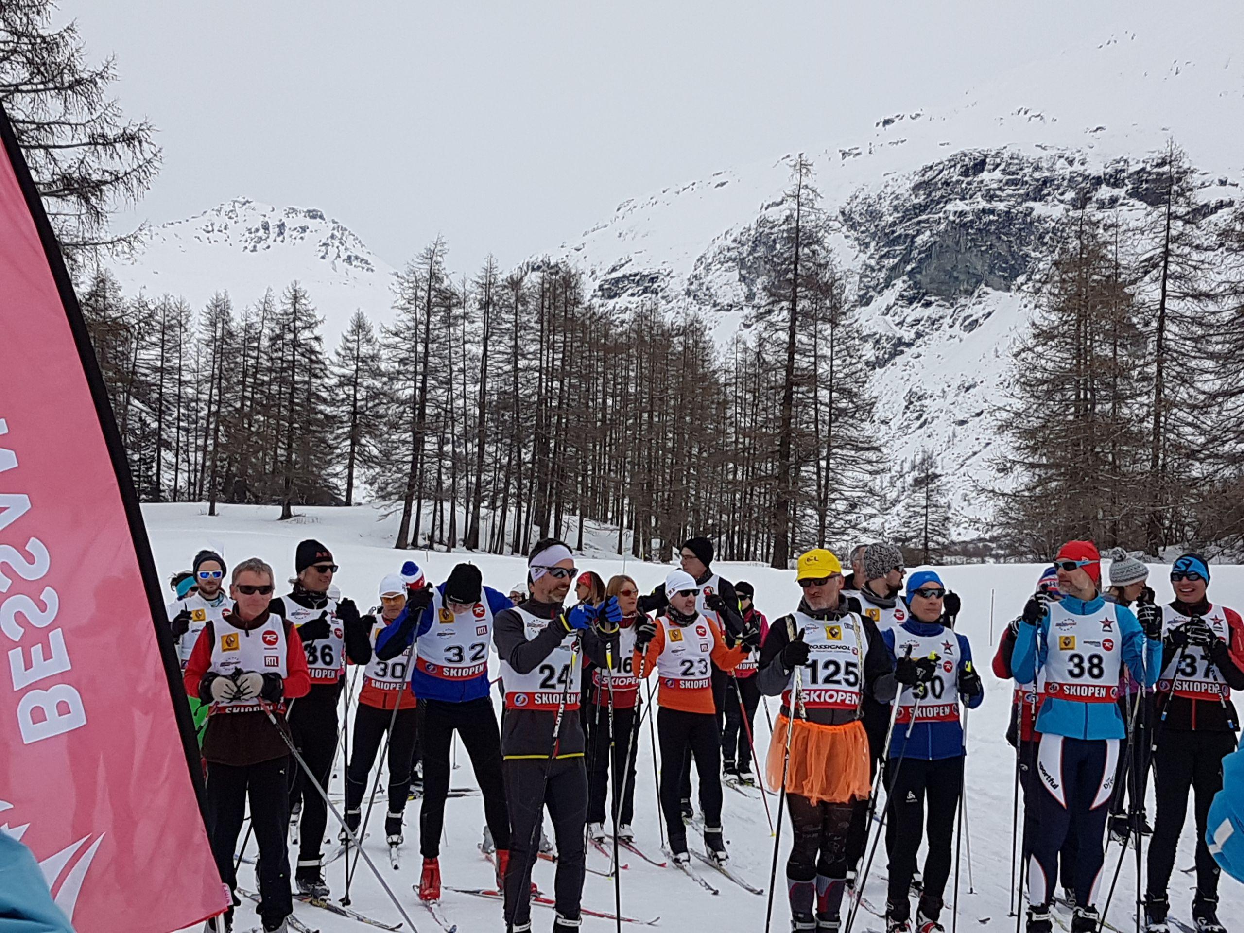 Ski de fond depart